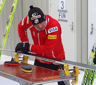 Todd Lodwick at the FIS Nordic Combined World Cup in Ramsau, Austria. (FIS/Egon Theiner)