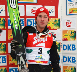Brett Camerta at the FIS Nordic Combined World Cup in Ramsau, Austria. (FIS/Egon Theiner)