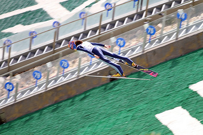 Sara Hendrickson competes at the 2011 backcountry.com U.S. Ski Jumping and Nordic Combined Championships at the Utah Olympic Park. Normal Hill, August 1, 2010 Photo: Marvin Kimble/U.S. Ski Team