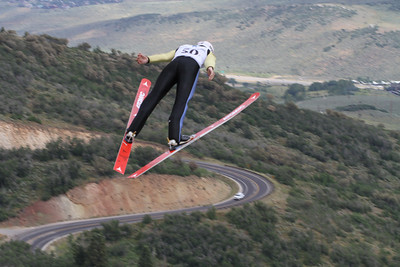 Nicholas Fairall competes at the 2011 backcountry.com U.S. Ski Jumping and Nordic Combined Championships at the Utah Olympic Park. Normal Hill, August 1, 2010 Photo: Marvin Kimble/U.S. Ski Team