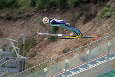 Lindsey Van competes at the 2011 backcountry.com U.S. Ski Jumping and Nordic Combined Championships at the Utah Olympic Park. Normal Hill, August 1, 2010 Photo: Marvin Kimble/U.S. Ski Team