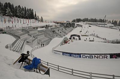 The cross country venue at the 2011 FIS Nordic Ski World Championships at Holmenkollen in Oslo. (c) 2011 U.S. Ski Team