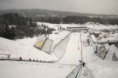 The normal hill HS106 will be the site of the women's World Championship at the 2011 FIS Nordic Ski World Championships at Holmenkollen in Oslo. (c) 2011 U.S. Ski Team
