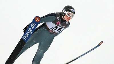 World Champion Lindsey Van jumps in training at the 2011 FIS Nordic Ski World Championships at Holmenkollen in Oslo. (c) 2011 U.S. Ski Team