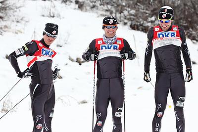 2011-12 Nordic Team  (l-r) Billy Demong, Bryan Fletcher, Taylor Fletcher Photo: Sarah Brunson/U.S. Ski Team