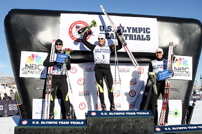(l-r) Bryan Fletcher, Todd Lodwick and Billy Demong 2014 Olympic Team Trials for Nordic Combined at Utah Olympic Park, Park City Cross Country Photo: Sarah Brunson/U.S. Ski Team