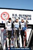 (l-r) Bryan Fletcher, Todd Lodwick and Billy Demong<br /> 2014 Olympic Team Trials for Nordic Combined at Utah Olympic Park, Park City<br /> Cross Country<br /> Photo: Sarah Brunson/U.S. Ski Team