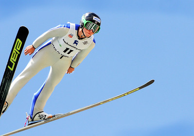 Jessica Jerome of Park City, Utah soars to a national title at the backcountry.com U.S. Ski Jumping Championships on the 120 meter hill at the Utah Olympic Park in Park City. (c) 2011 USSA/Tom Kelly