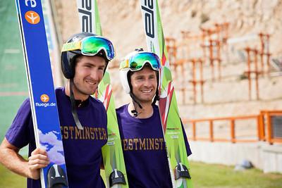 Taylor Fletcher and Bryan Fletcher 2013 U.S. Ski Jumping Championships at the Utah Olympic Park in Park City, UT. Photo: Sarah Brunson/U.S. Ski Team