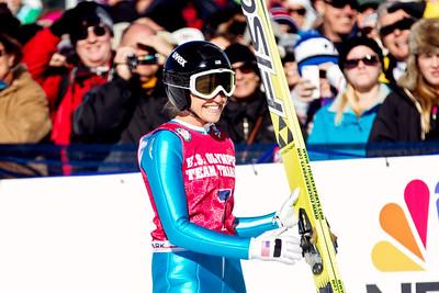 Jessica Jerome, first place 2014 Olympic Trials for Ski Jumping at Utah Olympic Park Women's Ski Jumping Photo: Sarah Brunson/U.S. Ski Team