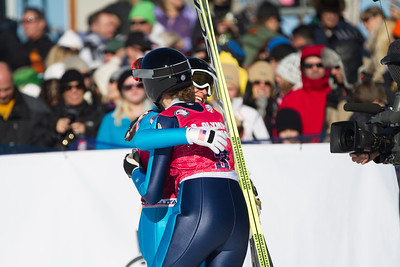 Jessica Jerome and Nina Lussi 2014 Olympic Trials for Ski Jumping at Utah Olympic Park Ski Jumping Photo: Sarah Brunson/U.S. Ski Team