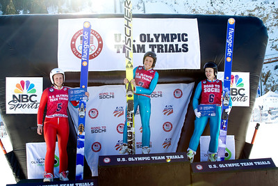 (l-r) Alissa Johnson, Jessica Jerome and Lindsey Van 2014 Olympic Trials for Ski Jumping at Utah Olympic Park Ski Jumping Photo: Sarah Brunson/U.S. Ski Team