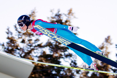 Jessica Jerome, first place 2014 Olympic Trials for Ski Jumping at Utah Olympic Park Women's Ski Jumping Photo: Sarah Brunson/U.S. Ski Team