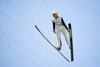Ben Dowling 2016 Springer Tournee at the Utah Olympic Park, Park City, UT. HS-100 Photo: U.S. Ski Team