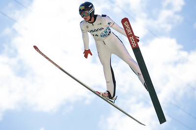 Will Rhoads 2016 Springer Tournee at the Utah Olympic Park, Park City, UT. HS-100 Photo: U.S. Ski Team