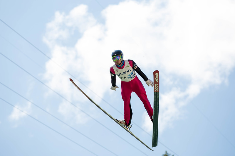 Taylor Fletcher<br /> 2016 Springer Tournee at the Utah Olympic Park, Park City, UT.<br /> HS-100<br /> Photo: U.S. Ski Team