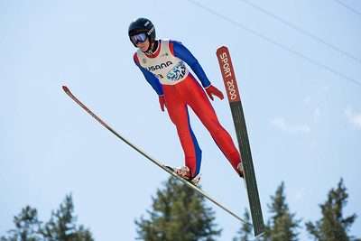 Elijah Vargas 2016 Springer Tournee at the Utah Olympic Park, Park City, UT. HS-100 Photo: U.S. Ski Team