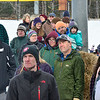 KRISTOPHER RADDER — BRATTLEBORO REFORMER<br /> People watch ski jumpers go off the 18-meter jump at Living Memorial Park during the first competition in 15 years at the park on Saturday, Feb. 29, 2020.