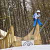 KRISTOPHER RADDER — BRATTLEBORO REFORMER<br /> Spencer Jones, from the Harris Hill Nordic, goes off the 18-meter jump at Living Memorial Park during the first competition in 15 years at the park on Saturday, Feb. 29, 2020.
