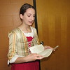 "CATHY SPAULDING/ Muskogee Phoenix<br /> Muskogee High School freshman Emma Watson reads from letters and other primary sources in her National History Day performance ""Founding Mothers."" She and classmates Asharia Jones and Kylie Gioletti will compete in the National History Day Contest, June 10-14."