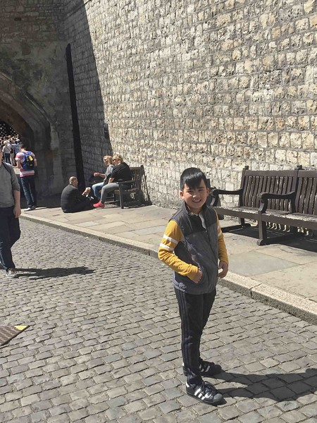Lucas at the Tower of London