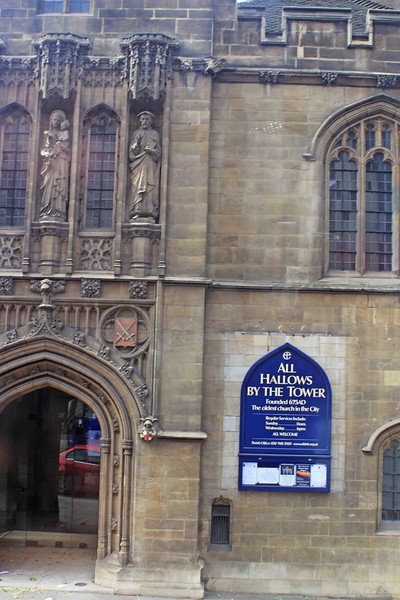 All Hallows by the Tower, Byword Street, London