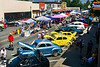 Car enthusiasts admire classic cars on display and visit a variety of food and craft vendors in Yerington.