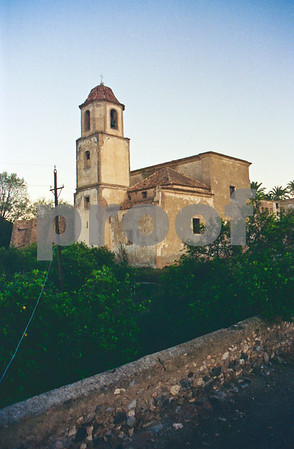San Ginés de la Jara Monastery and orange groves, June 1988