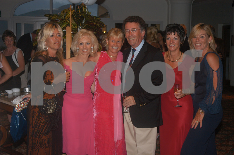 Debbie Magee and Robert Powell with friends at the Lady Taveners La Manga Club Event, 14th June 2004