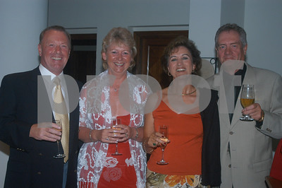Roger and Karen Lowe with friends at the Lady Taveners La Manga Club Event, 14th June 2004