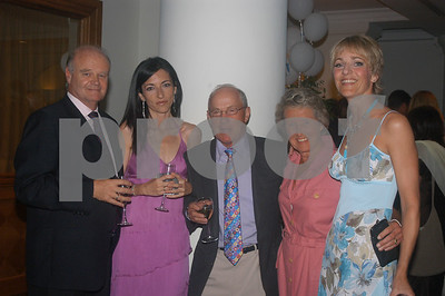 Tony and Juana Coles with Rachel Heyhoe Flint, Peter and Saskia Bottomley at the Lady Taveners La Manga Club Event, 14th June 2004