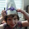 We made birthday hats for Daddy's birthday dinner