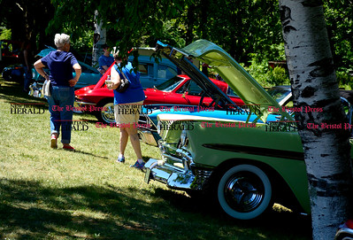 6/18/2016 Mike Orazzi | Staff Classic cars in the shade during the annual Klingberg Auto Show in New Britain on Saturday.