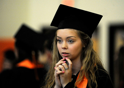 6/8/2016 Mike Orazzi | Staff Terryville High Schools graduate Kaitlyn Gambino Wednesday night at THS in Plymouth.