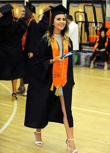 6/8/2016 Mike Orazzi | Staff Terryville High Schools graduate Erka Mullaj  Wednesday night at THS in Plymouth.