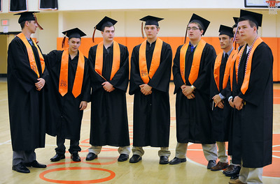 6/8/2016 Mike Orazzi | Staff Terryville High Schools graduates Wednesday night at THS in Plymouth.