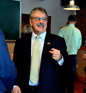 6/8/2016 Mike Orazzi | Staff State Senate Candidate Michael Nicastro during a fundraiser at Barley Vine in Bristol Wednesday.