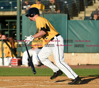 060916 Wesley Bunnell   Staff  New Britain took on the Somerset Patriots on Thursday evening at New Britain Stadium. Jonathan Roof #2 grounds out.