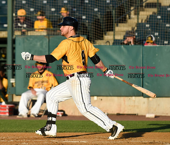 060916 Wesley Bunnell   Staff  New Britain took on the Somerset Patriots on Thursday evening at New Britain Stadium . Kevin Rivers #9.