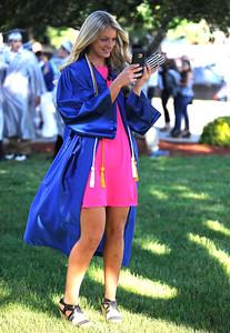 6/9/2016 Mike Orazzi | Staff Bristol Eastern High School graduate Megan Gettings at BEHS Thursday evening.