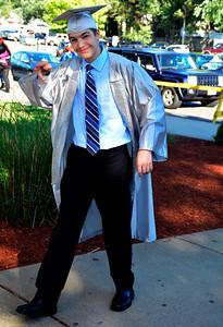 6/9/2016 Mike Orazzi | Staff Bristol Eastern High School graduate Zachary Roy at BEHS Thursday evening.
