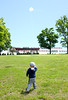 060916 Wesley Bunnell | Staff<br /> <br /> Alexander Dick, age 2, of New Britain flies his kite in Walnut Hill Park on Thursday afternoon.
