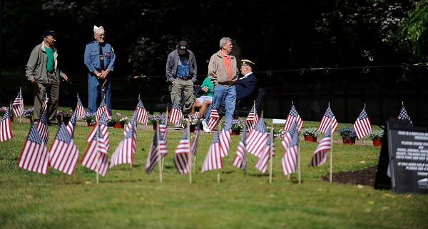 6/9/2016 MIke Orazzi | Staff The Traveling Vietnam Wall That Heals on Memorial Blvd. in Bristol Thursday morning.