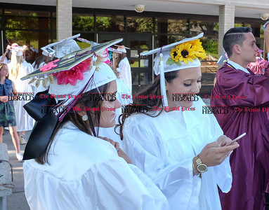 060916 Wesley Bunnell | Staff  Bristol Central High School held commencement their commencement ceremony on Thursday evening. From L Nasreen Abbasi with Cindy Tema check their photos.