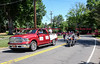 061016 Wesley Bunnell | Staff<br /> <br /> The Law Enforcement Torch Run for the Special Olympics came through Newington, New Britain, Berlin & Southington on Friday.  A pair of State Police on motorcycles led the procession and blocked off upcoming traffic when needed.