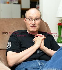 060816 Wesley Bunnell | Staff  Joseph Stobierski interviewed in his home.