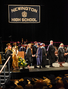 061016 Wesley Bunnell | Staff  The Oakdale Theater in Wallingford was the scene for the 2016 Newington High School Graduation. Class Salutatorian Johnny Sit.