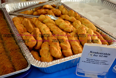 10/10/2015 Mike Orazzi | Staff Koulourakia for sale during the A Taste of Greece event at the Saint Demetrios Greek Orthodox Church in Bristol on Saturday.