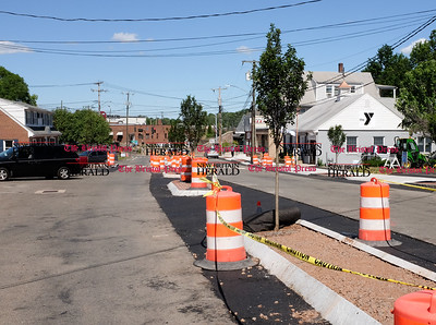 061416 Wesley Bunnell | Staff  Trees have been planted on the new center divider constructed on Main St. in Berlin.