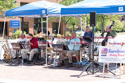 061516 Wesley Bunnell | Staff  The June Lunchtime Concert Series in New Britain's Central Park featured The Survivors Swing Band on Wednesday afternoon.